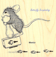 HOUSE MOUSE Making Prints Wood Mounted Rubber Stamp STAMPENDOUS HMQ12 New