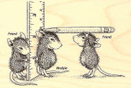 HOUSE MOUSE School Measuring Up Wood Mounted Rubber Stamp STAMPENDOUS HMP30 New