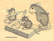 HOUSE MOUSE School Practice ABC Wood Mounted Rubber Stamp STAMPENDOUS HMR10 New