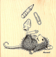 HOUSE MOUSE School Supplies Wood Mounted Rubber Stamp STAMPENDOUS HMQ08 New