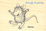 HOUSE MOUSE Tiny Jumper Monica Wood Mounted Rubber Stamp STAMPENDOUS HMH02 Ne