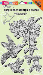 Hummingbirds, Cling-style Unmounted Rubber Stamp Set STAMPENDOUS - NEW, CRS5072