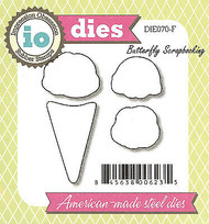 Ice Cream Cone Set American made Steel Dies by Impression Obsession DIE070-F New