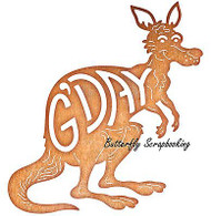 KANGAROO G'DAY Kangaroo Die Steel Die Cutting Die CHEERY LYNN DESIGNS B591 New