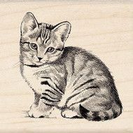 Kitty Cat Pet Kitten Wood Mounted Rubber Stamp Inkadinkado 60-00210 NEW