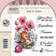 Knit Natter Mouse Unmounted Rubber Stamps Set MAKEY BAKEY MICE MBM-E-KNIT-EZ New