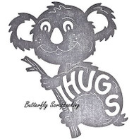 KOALA BEAR HUGS Koala Die Steel Die Cutting Die CHEERY LYNN DESIGNS B592 New