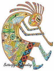 KOKOPELLI Animal Spirit Cling Unmounted Rubber Stamp EARTH ART Sue Coccia New