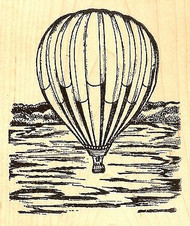 Large Hot Air Balloon, Wood Mounted Rubber Stamp NORTHWOODS - NEW, P9782