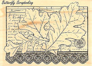 Leaf Collage, Wood Mounted Rubber Stamp IMPRESSION OBSESSION - NEW, F13243
