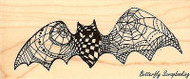 LIGHTER WINGS Doodle Bat, Wood Mounted Rubber Stamp STAMPENDOUS, NEW - N260