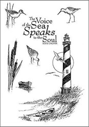 Lighthouse Beach Set Unmounted Red Rubber Cling Stamps Impression Obsession New