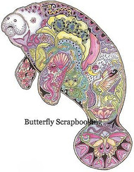MANATEE Animal Spirit Cling Unmounted Rubber Stamp EARTH ART Sue Coccia New