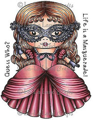 Masquerade Marci Stamp Set Cling Unmounted Rubber Stamp La La Land Crafts 5233