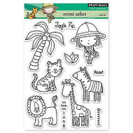 Mimi Safari, Clear Unmounted Rubber Stamp Set PENNY BLACK- NEW, 30-149