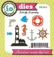 Mini Beach Nautical American made Steel Dies Impression Obsession DIE184-L New