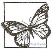 Monarch Butterfly Square Wood Mounted Rubber Stamp Northwoods Rubber Stamp New