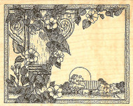 Morning Glories Flowers Wood Mounted Rubber Stamp Impression Obsession NEW
