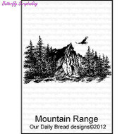 Mountain Range, Cling Style Unmounted Stamp DAILY BREAD DESIGNS - NEW, E383