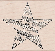 Music STAR Wood Mounted Rubber Stamp HERO ARTS K5958 New
