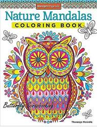 NATURE MANDALAS Coloring Book For Markers & Colored Pencils Design Originals New