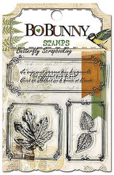 Nature Leaves Frames Trail Mix Clear Unmounted Rubber Stamps Set BoBunny New