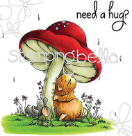 NEED A HUG Set Cling Unmounted Rubber Stamp Stamping Bella EB291 NEW