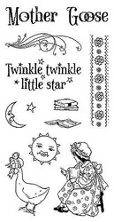 Nursery Rhymes #1 Mother Go Unmounted Red Rubber Cling Stamp Set Graphic 45 New