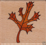 OAK LEAF Mounted Rubber Stamp Craft Stamps NEW