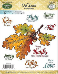 OAK LEAVES Stamp Set Cling Unmounted Rubber Stamps by JustRight CL-02131 NEW