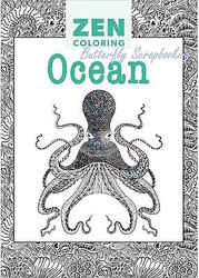 OCEAN DESIGNS ZEN Coloring Book For Markers, Colored Pencils Guild Master New