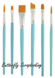 PAINT BRUSHES 6 Brush Set Princeton Select Fine Art Brush Set New