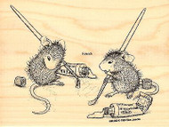Painting Pals HOUSE MOUSE Wood Mounted Rubber Stamp STAMPENDOUS, NEW - HMR22