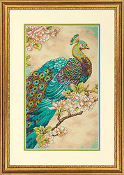Peacock Elegant Bird Counted Cross Stitch Dimensions Cross Stitch Kit NEW