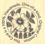 Personalized Original Creation Text Wood Mounted Stamp IMPRESSION OBSESSION, NEW