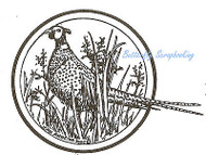 Pheasant Circle Wood Mounted Rubber Stamp Northwoods Rubber Stamp New