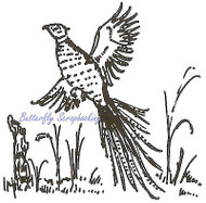 Pheasant, Wood Mounted Rubber Stamp NORTHWOODS - NEW, CC1725