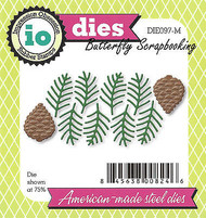 Pine & Pinecone Set American Made Steel Dies Impression Obsession DIE097-M New