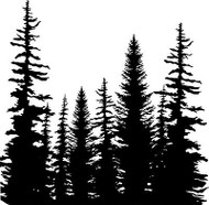 Pine Trees Cover A Card Background Unmounted Rubber Stamp Impression Obsession