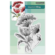Pop Pop Poppy, Cling Style Unmounted Rubber Stamp PENNY BLACK - NEW, 40-330