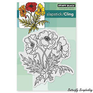 Poppy Trio, Cling Style Unmounted Rubber Stamp PENNY BLACK - NEW, 40-311