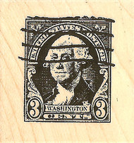 Postage Stamp Wood Mounted Rubber Stamp Impression Obsession NEW