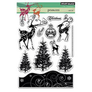 Prancers Stamp Set, Clear Unmounted Rubber Stamp Set PENNY BLACK- NEW, 30-258