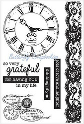PROVINCIAL Collection 6 Clear Unmounted Rubber Stamps Kaisercraft CS243 NEW
