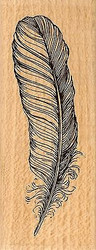 Quill, Wood Mounted Rubber Stamp STAMPENDOUS, NEW - Y030