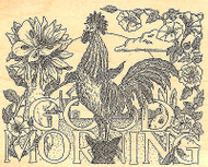 Rooster Morning Wood Mounted Rubber Stamp IMPRESSION OBSESSION Stamp H1949 New