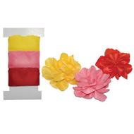 ROSES PULL FLOWERS Make Pull Ribbon Flowers 2 Yards Each LITTLE B 100420 NEW