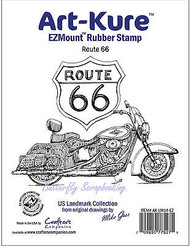 Route 66 Unmounted Rubber Stamp Landmark Collection Art-Kure AK-LM14-EZ New