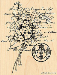 Scented Message, Wood Mounted Rubber Stamp PENNY BLACK - NEW, 4239K