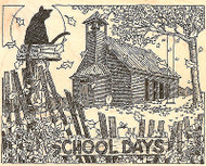 School Days, Wood Mounted Rubber Stamp IMPRESSION OBSESSION - NEW, H1839
